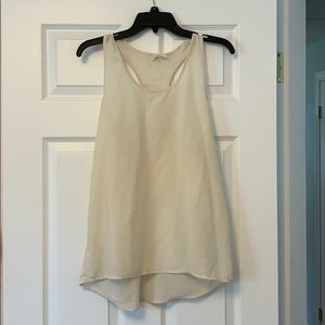 Off white Sheer Tank Top. Size S